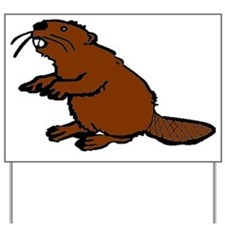 Brown Beaver Yard Sign