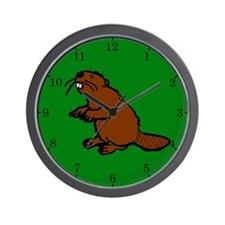 Brown Beaver Wall Clock