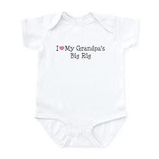 Love My Grandpas Big Rig Infant Bodysuit