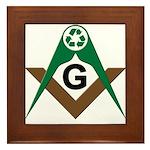 Masonic Recyclers Framed Tile