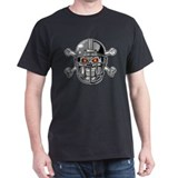 Skull Bones Football Helmet T-Shirt