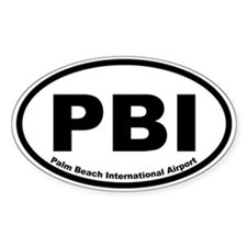 Palm Beach International Airport Oval Decal