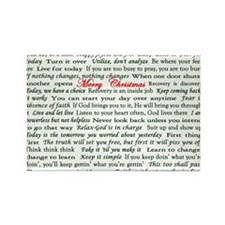 Merry Christmas Slogan Card Rectangle Magnet