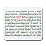 Merry Christmas Slogan Card Mousepad