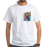 Cat & Mouse Skateboard White T-Shirt