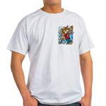 Cat & Mouse Skateboard Ash Grey T-Shirt