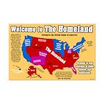Homeland Map 11 x 17 Poster Print