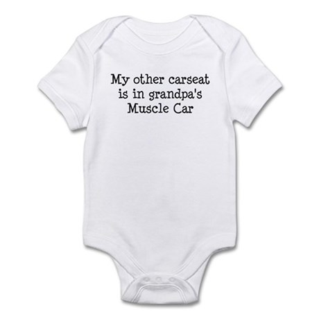 Carseat In Grandpas Muscle Car Infant Bodysuit