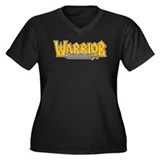 Warrior @ eShirtLabs.Com Women's Plus Size V-Neck