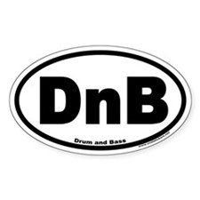 Drum and Bass DnB Euro Style Oval Decal