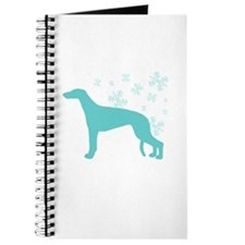 Greyhound Snowflake Journal