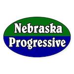 Nebraska Progressive Oval Sticker