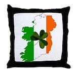 Map of Ireland w/Shamrock Throw Pillow