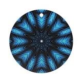 Turquoise &amp; Black Mandala Keepsake (Round)
