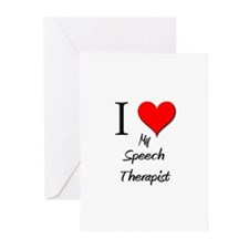 I Love My Speech Therapist Greeting Cards (Pk of 1
