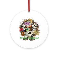 Billy Bull Ornament (Round)