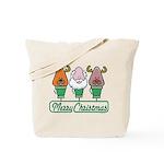 MERRY CHRISTMAS Light Trio Tote Bag