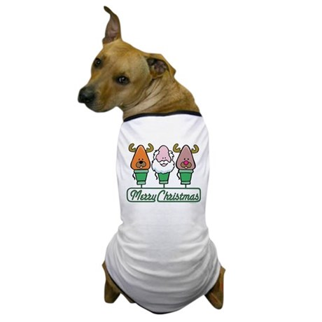 MERRY CHRISTMAS Light Trio Dog T-Shirt