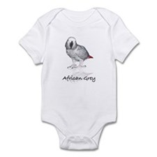 african grey parrot Infant Bodysuit
