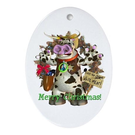 Billy Bull test Oval Ornament