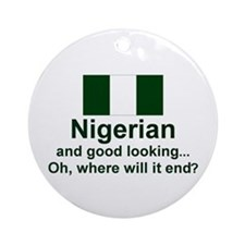 Nigerian-Good Lkg Keepsake Ornament