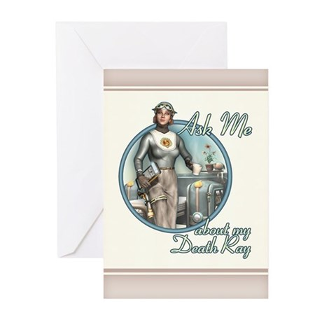 Ask Me About My Death Ray! Greeting Cards (20)