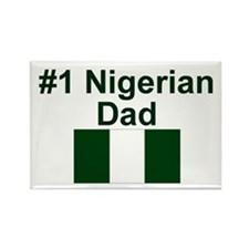 Nigerian #1 Dad Rectangle Magnet