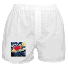 Starry Night Dachshund Boxer Shorts