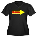 Baka Right Women's Plus Size V-Neck Dark T-Shirt
