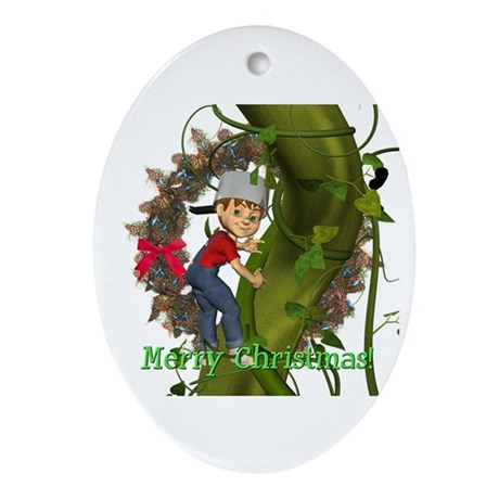 Jack and the Beanstalk Oval Ornament