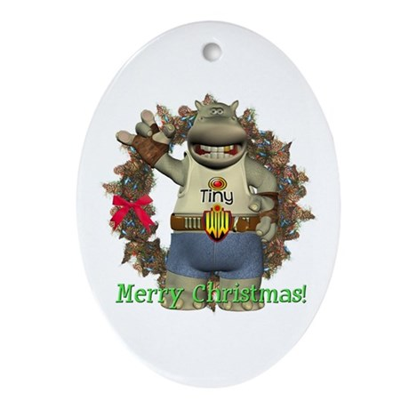 Heath Hippo Oval Ornament