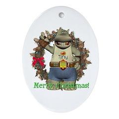 Heath Hippo Oval Ornament