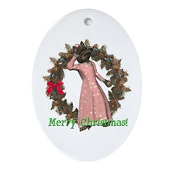 Big Bad Wolf Oval Ornament