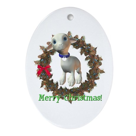 Lamb Oval Ornament