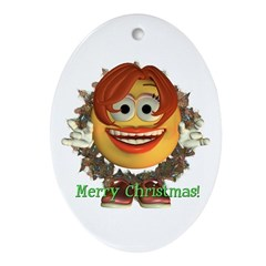 ASL Girl Oval Ornament
