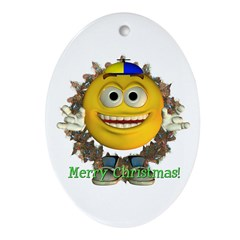 ASL Boy Oval Ornament