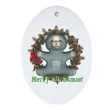 Teddy Bear Oval Ornament
