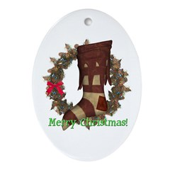Stocking Oval Ornament