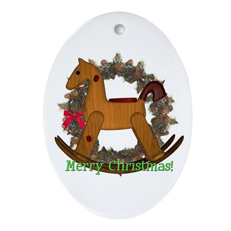 Rocking Horse Oval Ornament