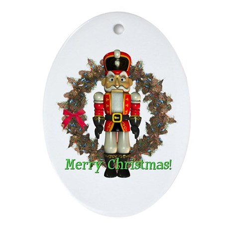 Nutcracker (Red) Oval Ornament