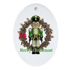 Nutcracker (Green) Oval Ornament