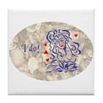 Bride I do Tile Coaster