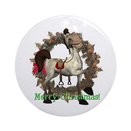 Tumbleweed Horse Ornament (Round)