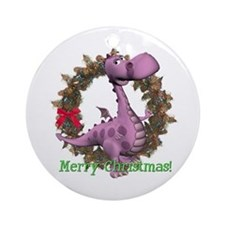 Dusty Dragon Ornament (Round)