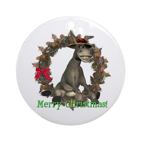 Donkey Ornament (Round)