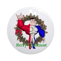 Alpha Man Ornament (Round)