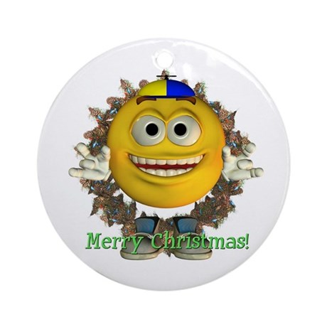 ASL Boy Ornament (Round)