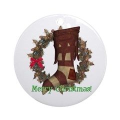 Stocking Ornament (Round)