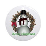 Snowman Ornament (Round)