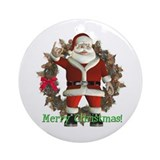 Santa Ornament (Round)